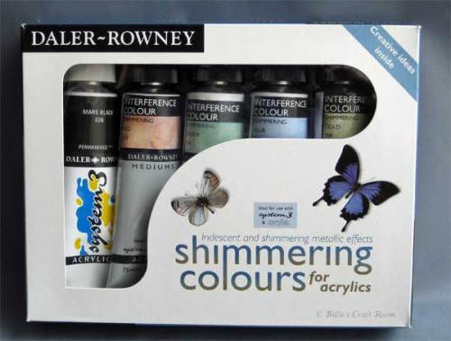 Daler Rowney; Simmering Colours. INterferenc colour acrylic paint