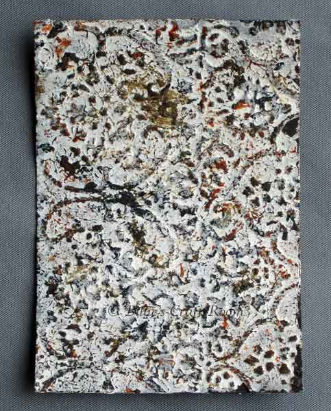 Mixed media Stone effect with lots of texture and dimension.