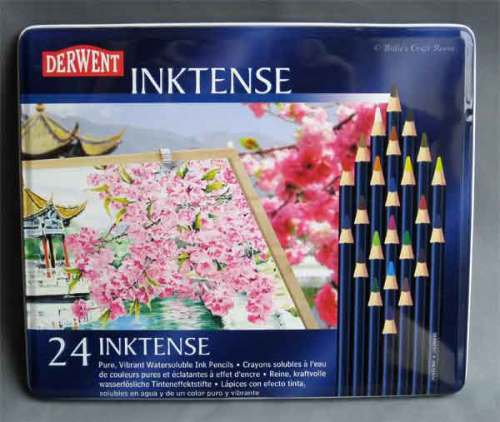 Derwent: Inktense Pencils. Tin of 24