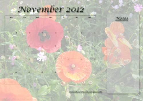 Calendar Page November 2012