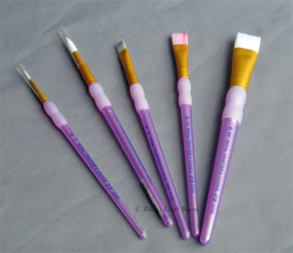 'Sheena's brushes' aka Royal Langnickel: Crafters's Choice.