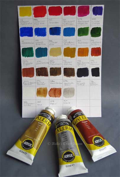 Make your Palette metallic with Winsor & Newton Galeria; Metallic colours