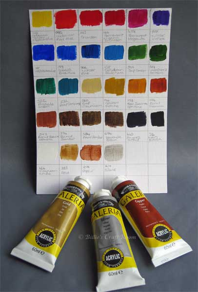 Make your Palette metallic with Winsor & Newton Galeria; Metallic colours