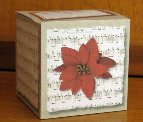 Poinsettia and Music Gift Box