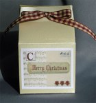 Christmas Gift Box; great for cupcakes & sweets