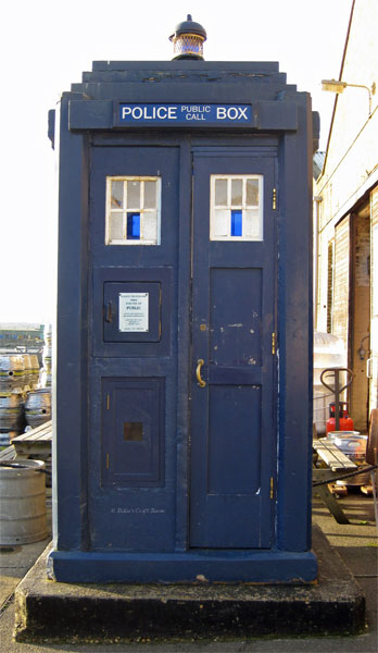 Close up of a TARDIS
