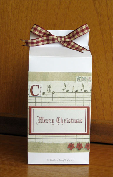 Billie's Tall Milk carton Gift Box