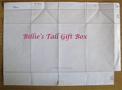 Billie's Tall Milk carton Gift Box: Scoring Instructions
