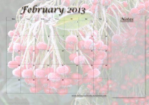 Calendar Page: February 2013