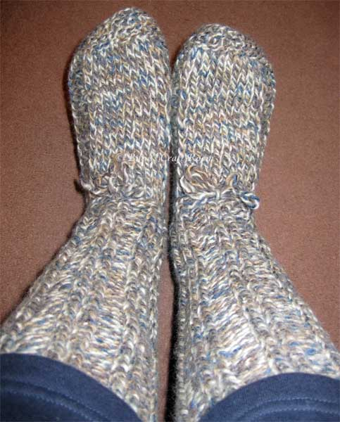 Long winter slipper socks
