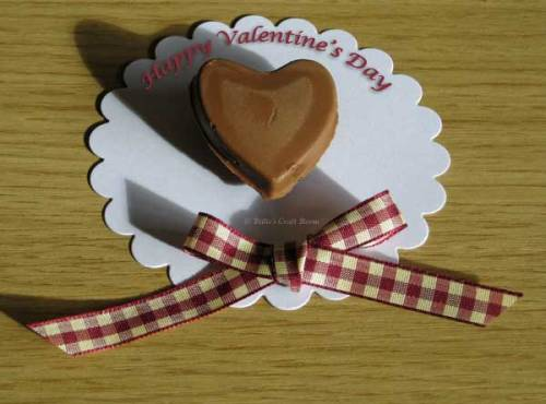 Chocolate from; Heart mould from the Chocolatiere kit