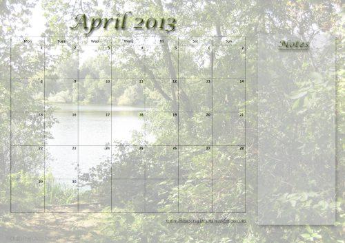 Calendar Page April 2013
