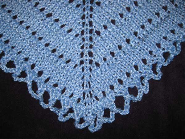 Spring/ Summer Shawl, crochet edging