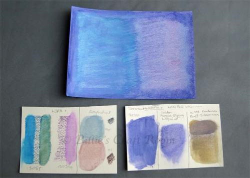 Mixed media experiments with water-soluble media.