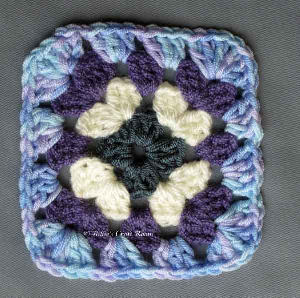Granny Square created after watching Wendy Poole's DVD