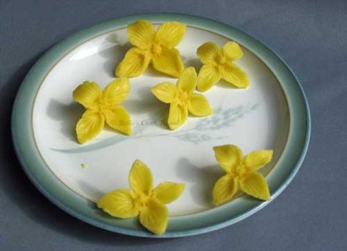 3D Art. Marzipan Flowers