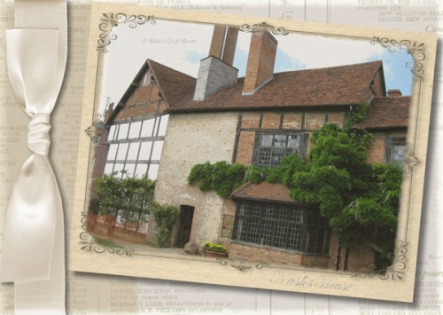 Shakespeare Collection: Nash's House; card
