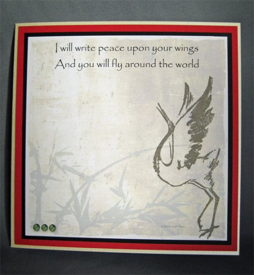 I will Write Peace Upon Your Wings; Card