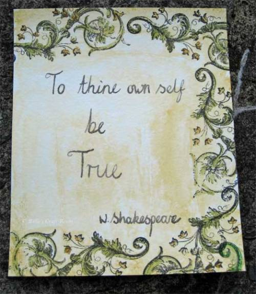 Mixed media Art Journal page; To Thine Own Self be True