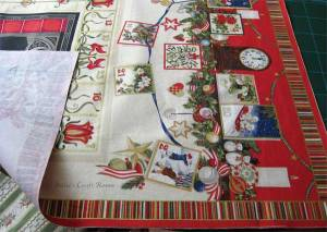 Advent calendar panel: Backed with interfacing