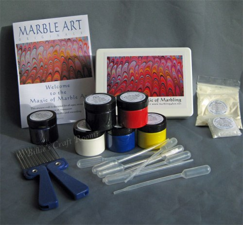 Marbling 4 Fun; Marbling kit plus Violet paint and a comb to help create patterns