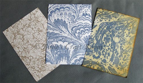 Marbled paper using Rubber stamps