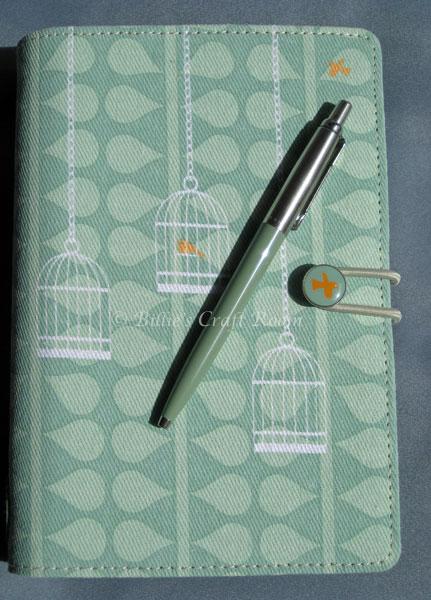 Filofax Swift with colour matching Parker Jotter Pen.