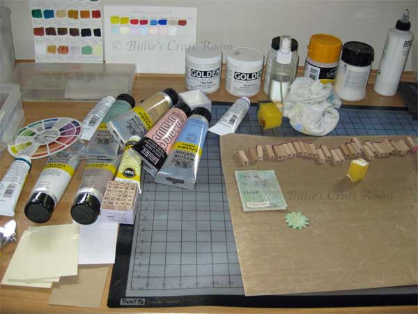 In the studio: A close up of the creative space