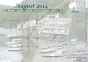 Free calendar Page August 2014