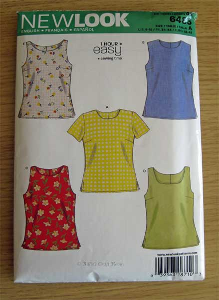 New Look Sleeveless top pattern