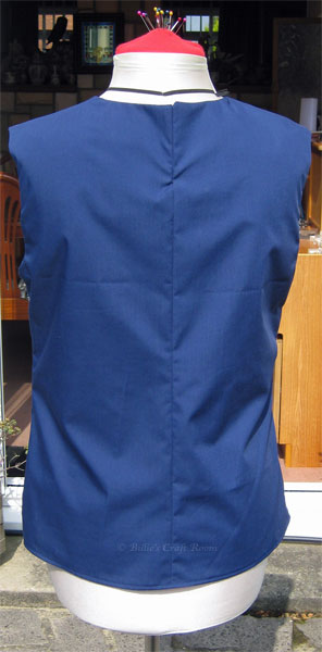 Back of my finished top from New Look 6483 sewing pattern