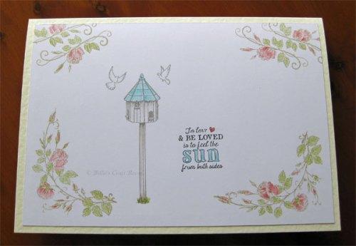 A simple card with a garden theme