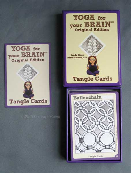 Yoga for your brain, Zentangle cards