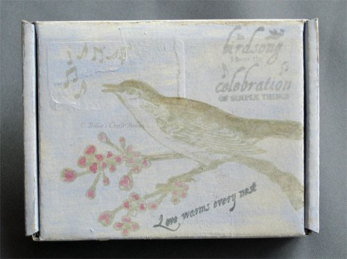 Altered art: stamped box