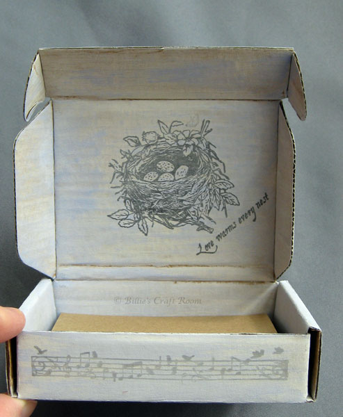 Altered art: stamped box- the inside
