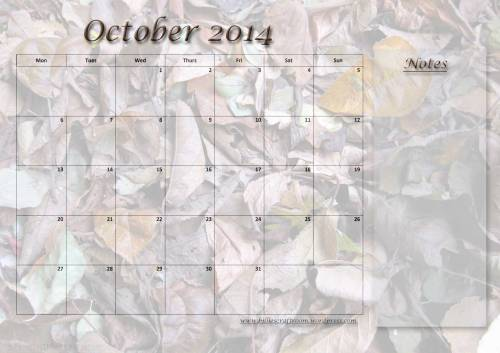 Free download Calendar Page November 2014