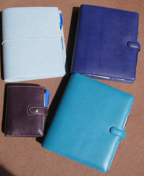 A few of my Filofax organisers