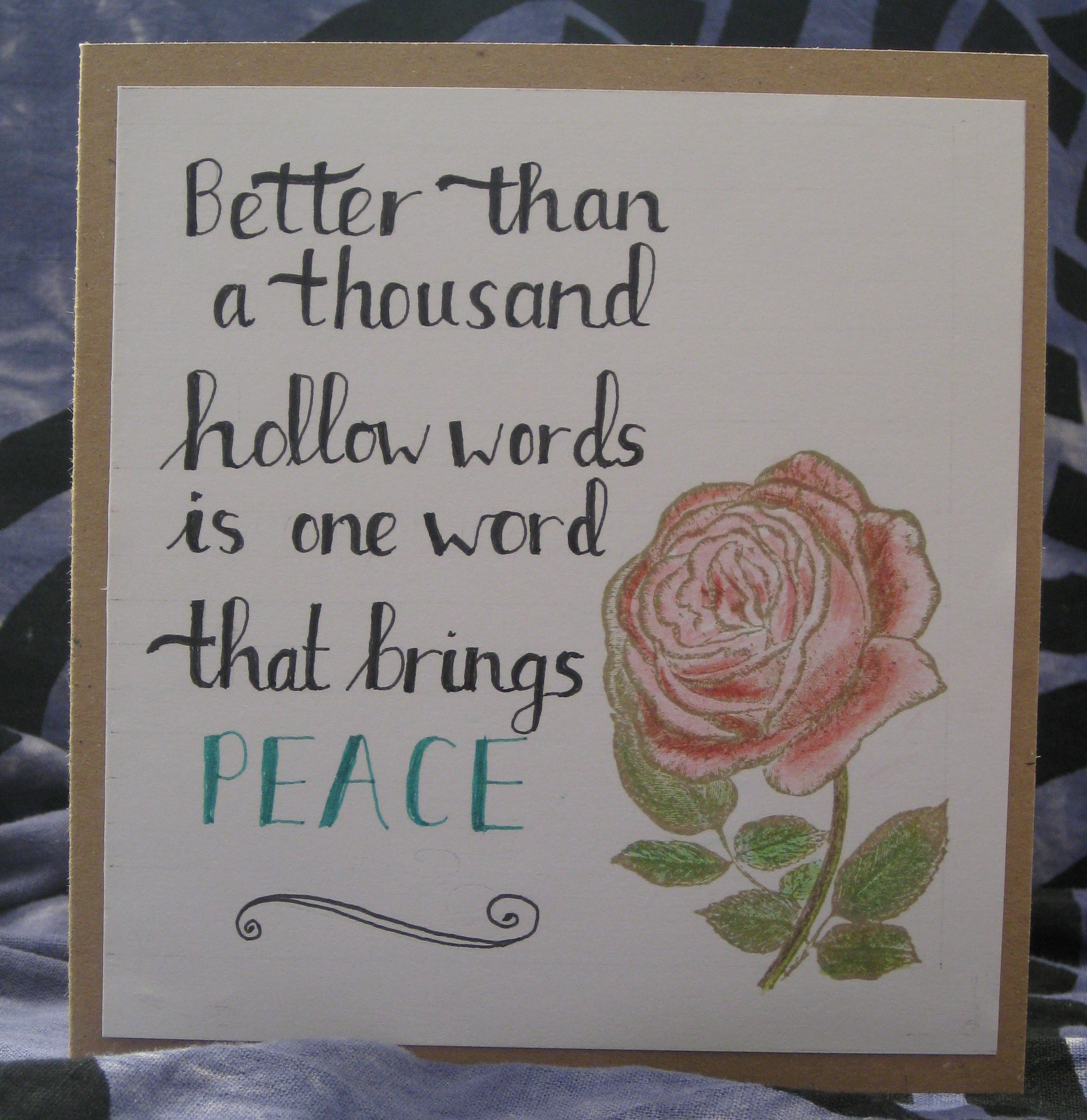 Hand lettered card