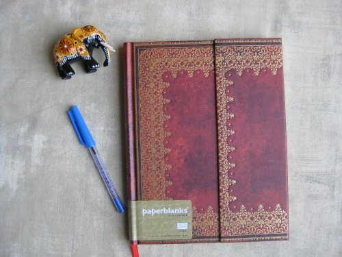 Paperblanks 'Old Leather' foiled Ultra wrap journal