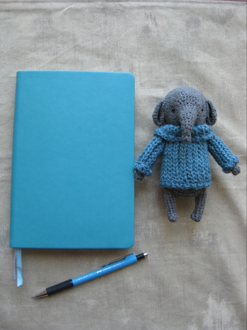 Stationary Island A5 journal and Ethan Elephant from Rues Bears